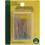 Size 30 100/Pkg - Dritz Quilting Crystal Glass Head Pins