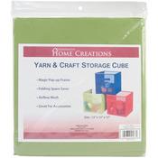"""Lime Green - Yarn & Craft Storage Cube 12""""X12""""X12"""""""