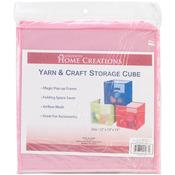 """Pink - Yarn & Craft Storage Cube 12""""X12""""X12"""""""