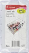 """2.75""""X4.5""""X8"""" - Clear Plastic Thread Box"""