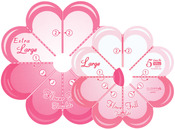 Large & Extra Large - Flower Frill Templates
