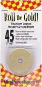 45mm 10/Pkg - Roll The Gold! Titanium Coated Rotary Cutting Blade Refills