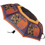 "Laurel Burch Compact Umbrella 42"" Canopy Auto Open/Close - Feline Family Portrai"