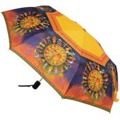 """Harmony Under The Sun - Laurel Burch Compact Umbrella 42"""" Canopy Auto Open/Close"""