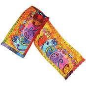 Feline Tribe - Laurel Burch Scarves