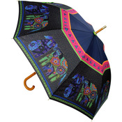 "Dogs & Doggies - Laurel Burch Stick Umbrella 42"" Canopy Auto Open"