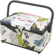 """5.5""""X10.5""""X5.5"""" Neutral Notions - Sewing Basket"""