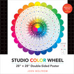 "Studio Color Wheel 28""X28"" Double - Sided Poster-"