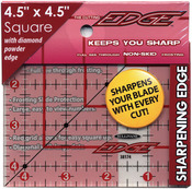 """4-1/2""""X4-1/2"""" - The Cutting EDGE Frosted Ruler"""