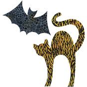 "Cat 5-1/8""X7-3/8"" & Bat 5-1/8""X3"" - GO! Fabric Cutting Dies"