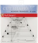 8 Sizes - Quilt Sense Wonder Triangles Rulers