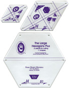 Set H - Large Hexagon Set 3/Pkg - Perfect Patchwork Template