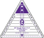 "2"" To 6"" - 60 Degree Triangle Ruler"