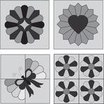 Mini Dresden Plate 4/Pkg - Perfect Patchwork Template
