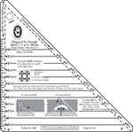 "3"" To 9"" Blocks - Small Diagonal Set Triangle Ruler"