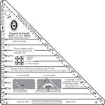 "3"" To 9"" Blocks - Small Diagonal Set Triangle Ruler"
