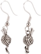 Knitting Needles - Charming Accents French Wire Earrings