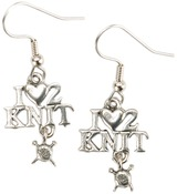 I (Heart) 2 Knit - Charming Accents French Wire Earrings