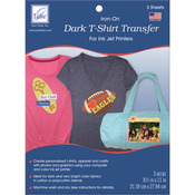 "Dark T - Shirt Iron - On Ink Jet Transfer Sheets 8.5""X11"" 3/Pkg-"