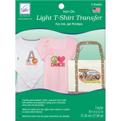 "Light T - Shirt Iron - On Ink Jet Transfer Sheets 8.5""X11"" 3/Pkg-"