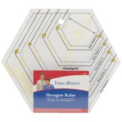 "2"" To 6"" & 1"" To 3"" - Fons & Porter Hexagon Ruler"