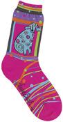 Matisse - Magenta - Laurel Burch Socks