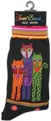 Polka Dot Leopard - Black - Laurel Burch Socks