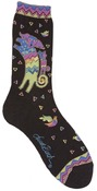 Playing Dog & Puppy - Black - Laurel Burch Socks