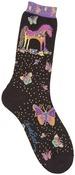 Mythical Mares - Black - Laurel Burch Socks