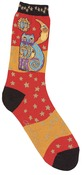 Celestial Cat - Orange - Laurel Burch Socks