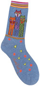 Polka Dot Leopard - Denim - Laurel Burch Socks