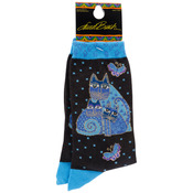 Indigo Cats - Blue - Laurel Burch Socks