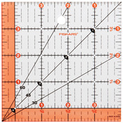 "4-1/2""X4-1/2"" - Fiskars Quilting Ruler"
