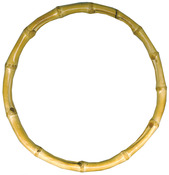 """Natural - Bamboo Bag Handle 7-1/2"""" Round"""