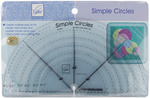 6/Pkg - Simple Circles Rotary Cutting Rulers