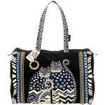 "Spotted Cats - Travel Bag Zipper Top 21""X8""X14"""