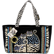 "Spotted Cats - Medium Tote Zipper Top 15.5""X4.5""X10"""