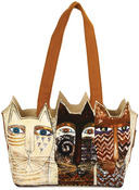 "Ancestral Cats - Medium Tote Zipper Top 14.5""X4""X8"""