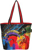 "Wild Horses Of Fire - Shoulder Tote Zipper Top 19""X7""X15"""