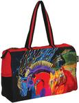 """Wild Horses Of Fire - Travel Bag Zipper Top 21""""X8""""X15"""""""