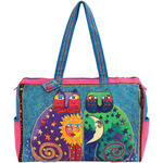 "Celestial Felines - Travel Bag Zipper Top 21""X8""X15"""