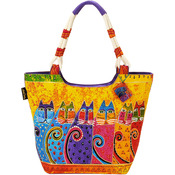 "Feline Tribe - Scoop Tote Zipper Top 19""X5""X13.5"""