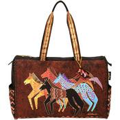"""Native Horses - Travel Bag Zipper Top 20.5""""X8.25""""X16"""""""