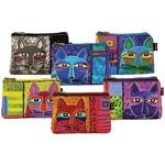 "Whiskered Cats - Cosmetic Bag Zipper Top Assortment 9.25""X6.75"""