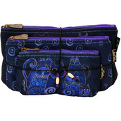 Indigo Cats - Cosmetic Bag Set 3/Pkg