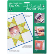 """White - Printed Treasures Sew-On Ink Jet Fabric Sheets 8.5""""X11"""" 5/Pk"""
