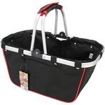 """18""""X10""""X9.5"""" Black & Red - JanetBasket Large Aluminum Frame Basket"""