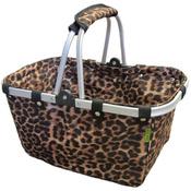 """18""""X10""""X9.5"""" Leopard - JanetBasket Large Aluminum Frame Basket"""