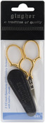 "Epaulette Embroidery Scissors 3.5""W/Leather Sheath"