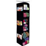Black - 6 Shelf Yarn & Craft Organizer